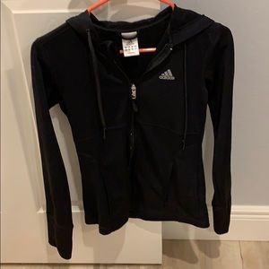 Adidas black zip up sweater - S